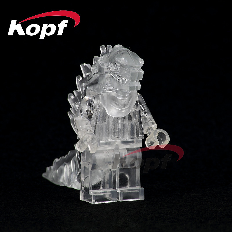 Building Blocks Single Sale American Science Fiction Monster Movie Super Heroes Lava Crystal Godzilla Toys for children PG0001 building blocks super heroes back to the future doc brown and marty mcfly with skateboard wolverine toys for children gift kf197