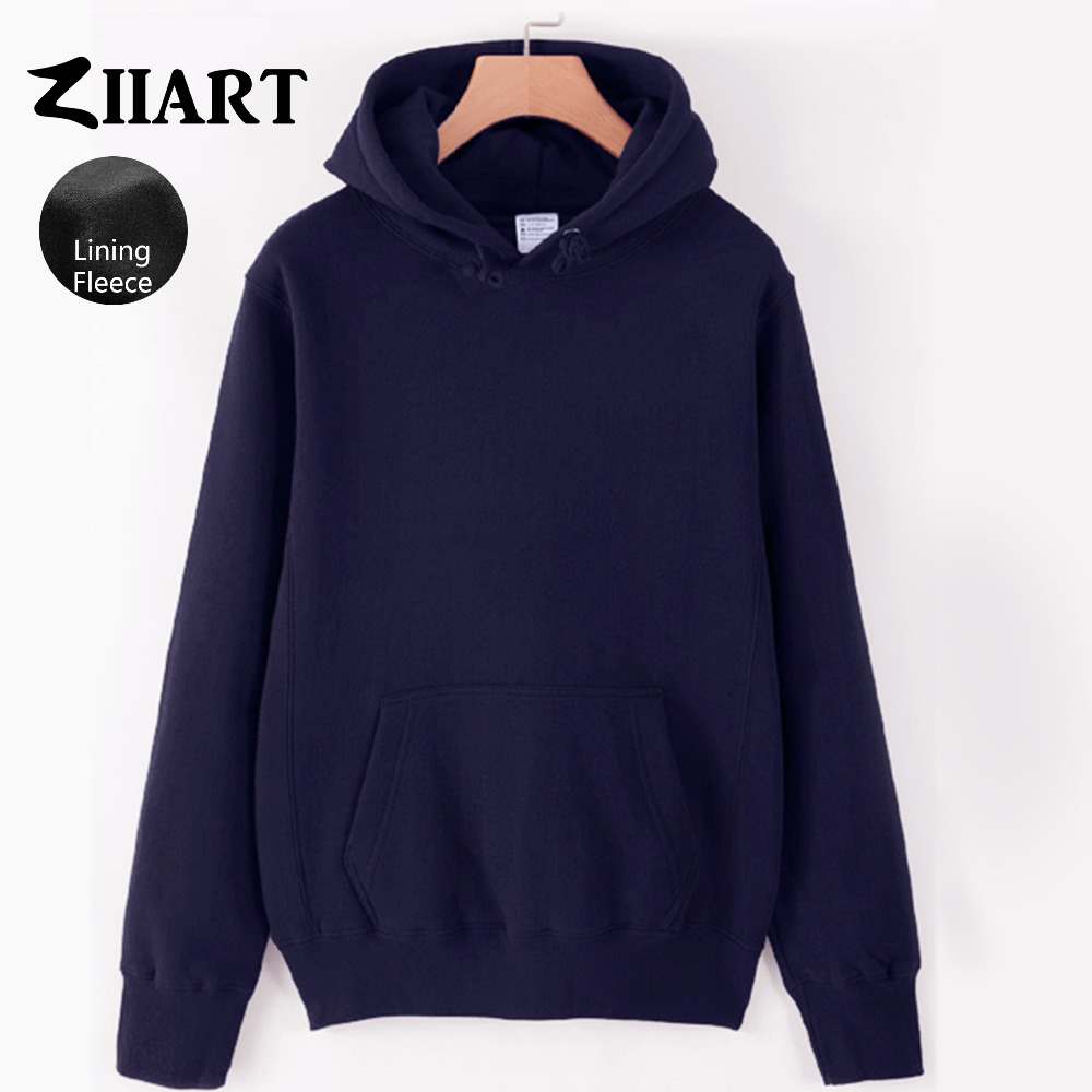 Girls Woman Fleece Hoodies Black Gray White Navy Blue Royal Blue Pink Red Yellow Solid Pure Color couple clothes ZIIART handbag