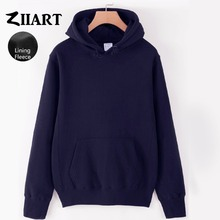 Girls Woman Fleece Hoodies Black Gray White Navy Blue Royal Pink Red Yellow Solid Pure Color couple clothes ZIIART