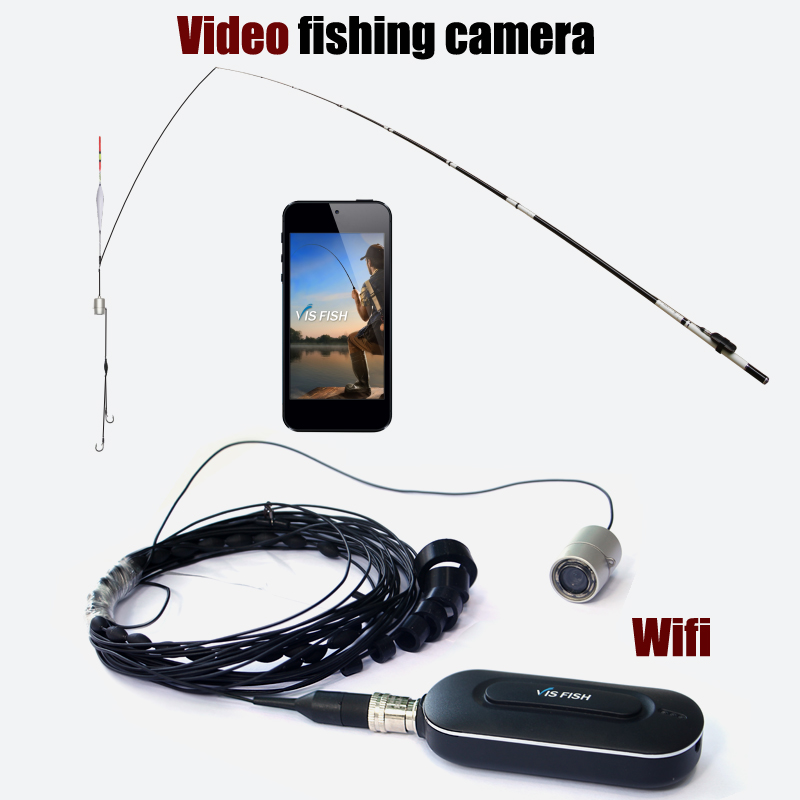 HD 1080P WIFI Wireless Video Fish Finder camera System 140 Degree Lens underwater 8pcs IR LED Infrared Lamp Fish Cam of Fishing hu ying fish finder video 30 meter line 140 degree high definition night vision lens multi scene fishing 4 3 lcd 8pcs ir led