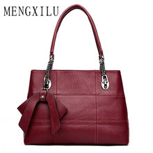 MENGXILU Luxury Handbags Women Bags Designer Sheepskin Leather Shoulder Bags Handbags 2019 Bow Crossbody Bag Ladies Sac A Main