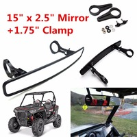 Triclicks Universal 1 75 Clamp UTV 15 Rear View Mirror Aluminum CNC Rearview Mirrors For Polaris