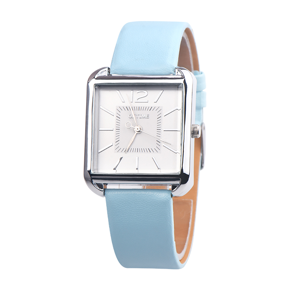 relogios Fashion Faux Leather Band Square Women Casual Quartz Wrist Watch Jewelry Gift horloges vrouwen 2018 new fashion bracelet watch quartz women lady dress wristwatch horloges vrouwen gift box free ship