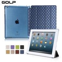 GOLP Custodia Per Apple iPad 2/3/4 della Stella di Bling Modello Ultra Sottile Duro PC Wake Auto Sleep Smart Cover Per iPad 2/3/4 Caso A1460 A1430