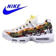adea847f Nike Air Max 95 Мужская обувь для бега, уличные кроссовки, белые,  устойчивые к истиранию, амортизация Нескользящая AR4473-100