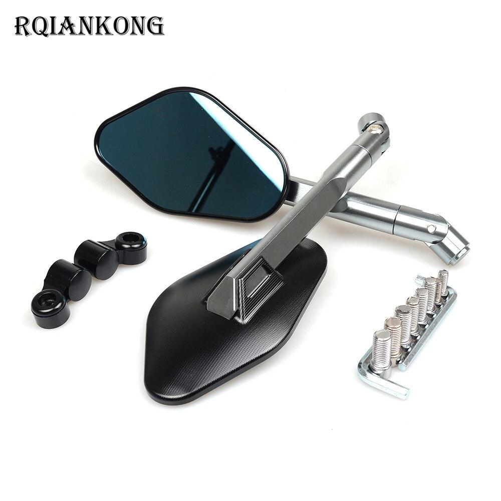 CNC Алюминий парные Мотоцикл зеркала заднего вида Универсальный боковые зеркала для SUZUKI GSX R600 650 R750 GSF 1250 Gladius GSR 400 750