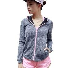 Women Sport Shirts Fitness Yoga Running Gym Clothes Long Sleeves Stand Collar Sportswear Zipper Yoga Shirt