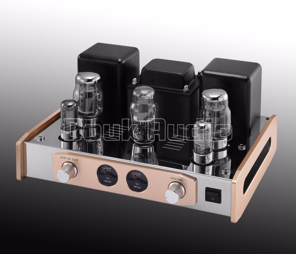 Douk Audio 2017 Latest Boyuu A20 HiFi KT88 Vacuum Tube Integrated Amplifier Single-Ended Class A Stereo Power Amp 18W*2 appj pa1501a mini stereo 6ad10 vintage vacuum tube amplifier desktop hifi home audio valve tube integrated power amp