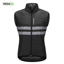 WOSAWE 2018 Men Women Reflective Cycling Vest Windproof Windbreaker Running Bike Bicycle Vest Hiking Fishing Sleeveless Jacket