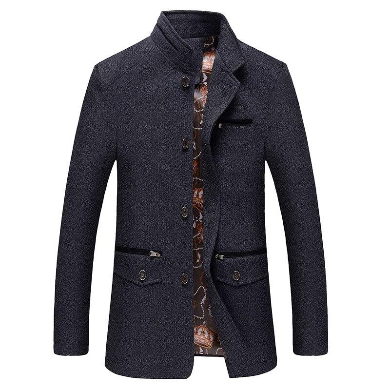 Men's Fashion Casual Boss High Collar Jacket Middle-aged Men Winter Coat Male  Bomber Jacket Brand Clothing Plus Size Jacket Men