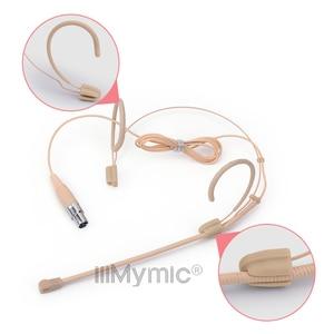 Image 4 - Profesjonalne beżowy 3 Pin zestaw słuchawkowy mikrofon kondensujący dookólna mowy Headworn Mic dla AKG bezprzewodowy System TA3F 3 Pin XLR