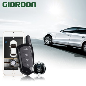 Mobile phone control car start anti-theft system with one key mobile phone remote start hand lock comfortable access