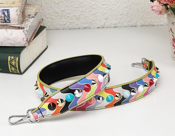 Youe shone Flower Straps Leather Colorful Handle Tide Women Bolsa Belt Replacement Shoulder Bag Strap Accessories 90cm JD012