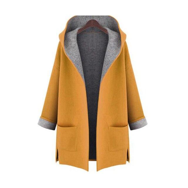 2016 Mulher do Outono Revestimento de Poeira das Senhoras Cardigan todo o jogo Da Moda Casaco À Prova de Vento feminino trench coat Plus Size L XL 2XL 3XL 4XL 5XL