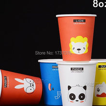 100 шт 8 одноразовые, бумажные чашки настроить День Рождения Чашки красные одноразовые чашки с крышкой