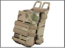 Win Airsoft MULTICAM Fast Mag Molle Pouch M4 Double FastMag Clip / 5.56mm Magazine save
