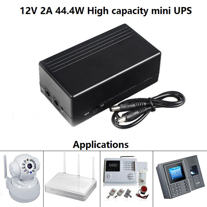 2016 hotest sales 12v 2a 44 4w power supply mini dc online ups battery for router and cameras. Black Bedroom Furniture Sets. Home Design Ideas