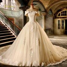 Loverxu Vestido De Noiva сексуальное свадебное платье трапециевидной формы с вырезом лодочкой винтажное свадебное платье с коротким рукавом и аппликацией из бисера размера плюс