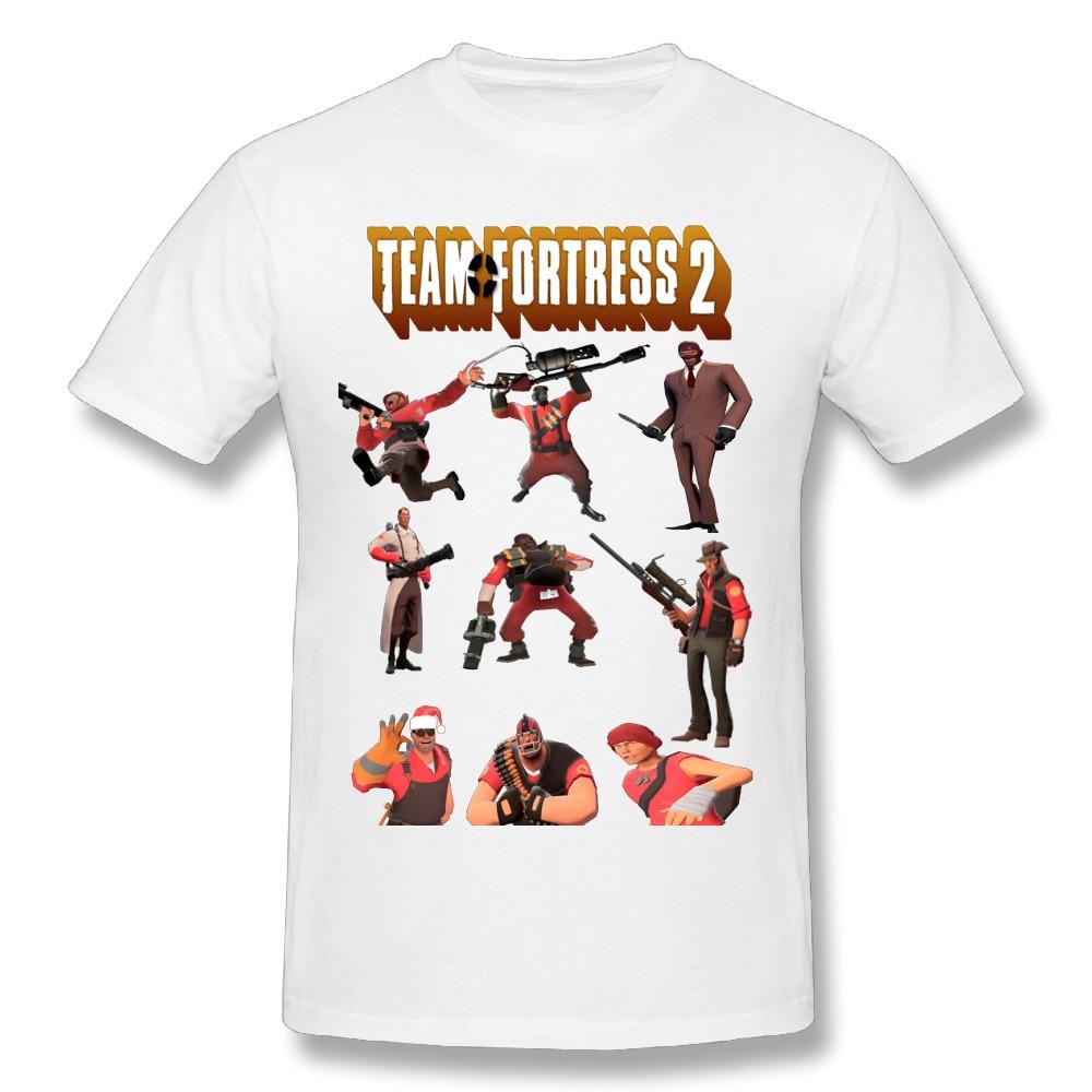 Novelty Team Fortress 2 All Characters T Shirt 2018 Man Soft Slim Short Sleeve T-shirt