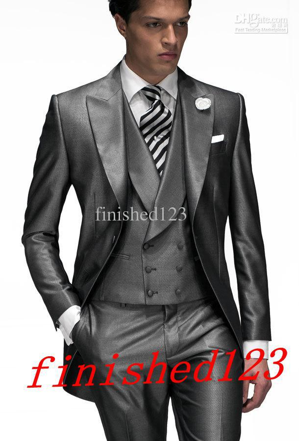 Latest Style One On Groom Tuxedos Groomsmen Men S Wedding Suits Best Man Jacket Pants Vest Tie Bm 925 In From Clothing Accessories