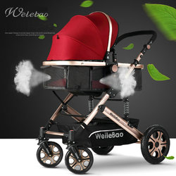 High landscape baby stroller can sit four wheel shock absorber folding two-way bb baby child baby stroller