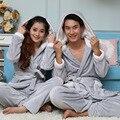 Sexy Pijamas Masculinos O-cuello Oferta Especial Sólido Completo de Cachemira Para Hombre Pijamas de La Nueva Manera 2016 Otoño/invierno del Espesamiento Parejas
