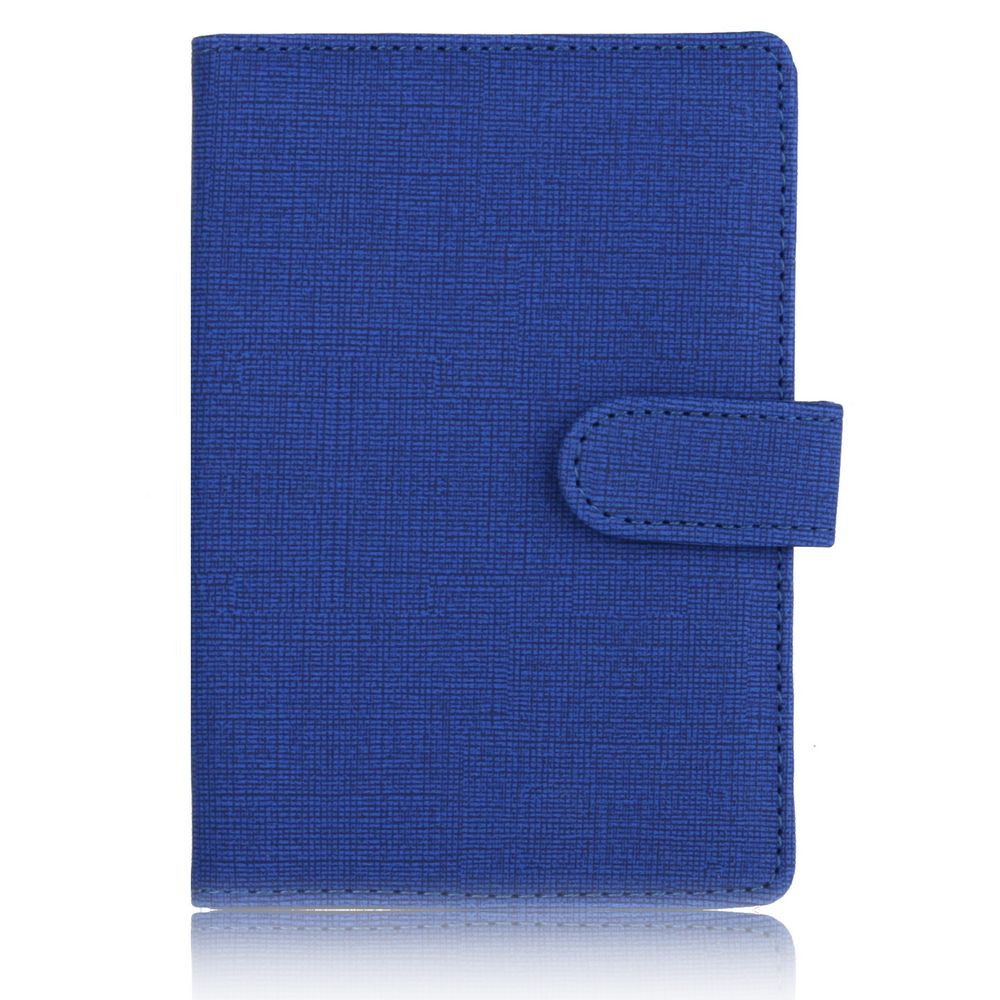 TRASSORY Slim Fabric Pattern Leather Passport Cover Holder Travel Lugguge Case With Button For Men Women