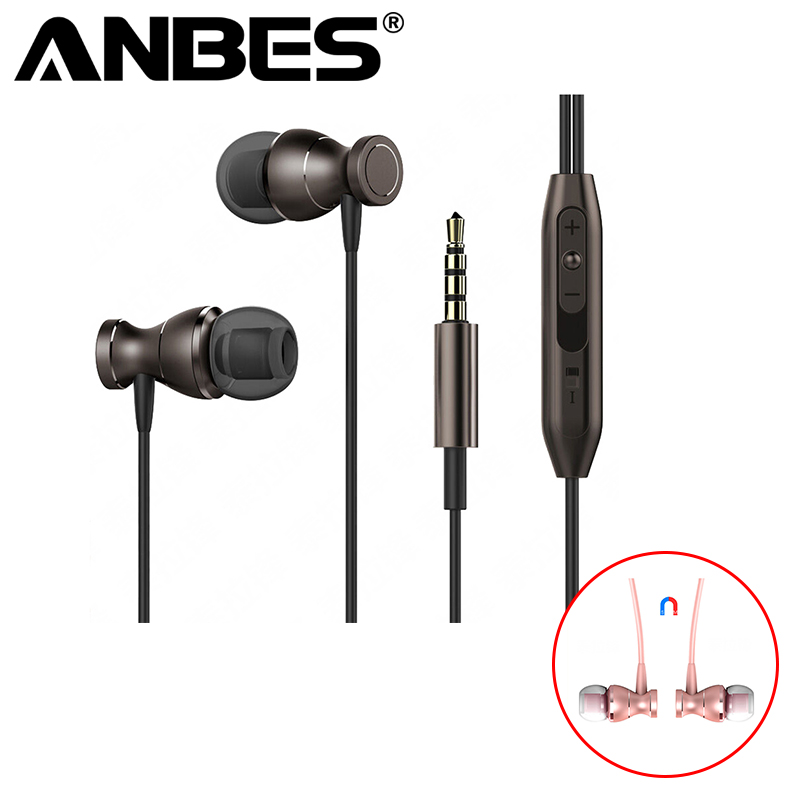 Magnet Metal In-Ear Earphone Heavy Bass Sound Anti-Sweat Sport Earphone with Mic Handsfree Earbuds for iPhone Samsung Xiaomi MP3 songful s1 stereo deep bass earphone sport running headset sweat proof ear hook earbuds hifi handsfree with mic for iphone mp3 4