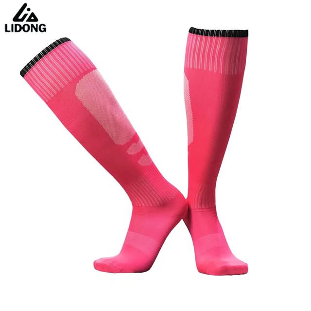 New Adult Men Women Child Football Socks Boys Girls Soccer Sock Kids Youth Above Knee Long Stockings Plain Socks Thin breathable