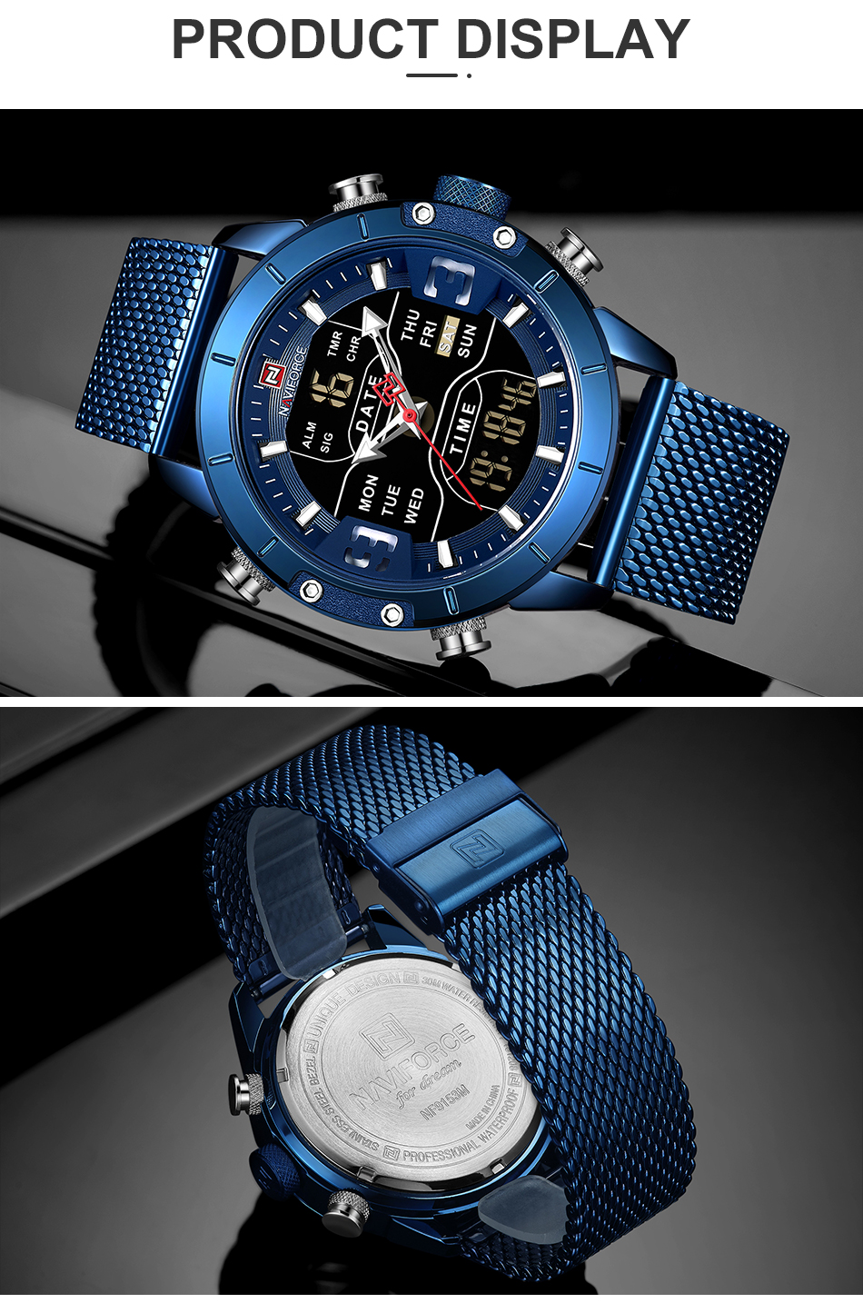 novos relógios de quartzo moda led digital