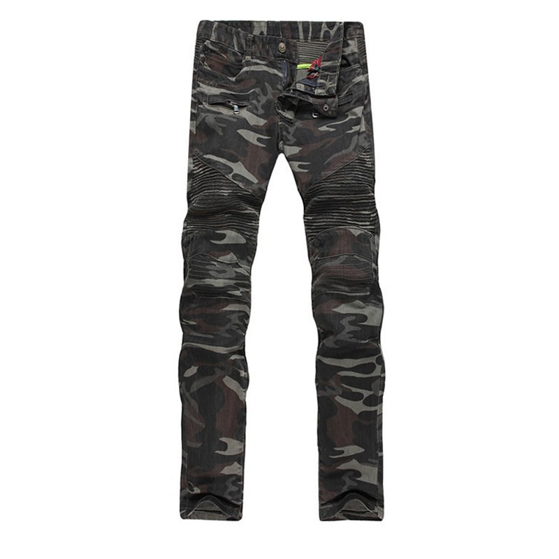 ФОТО Kanye West Justin Bieber 424 Four Two Four Man Jeans Camouflage Color Hip Hop Dsq Nmd PP Zipper Ripped Washed Biker Men Jeans