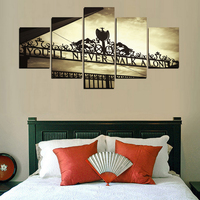 Frame Wall Art Poster Modern 5 Panel You Will Never Walk Alone Living Room Canvas HD Print Painting Modular Home Decor Pictures 3