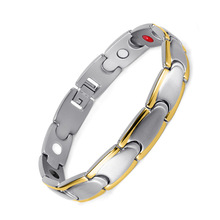 Mans Magnetite Bracelet Stainless Steel Four-in-One