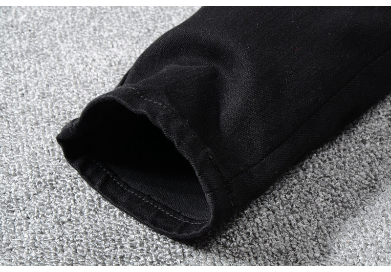 Royles Men's skinny black ripped jeans 10