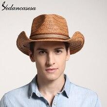 הגנת UV קיץ שמש כובעי לגבר נשים בעבודת יד רפיה קש טרילבי שווי חוף חג מגניב WGB0500005