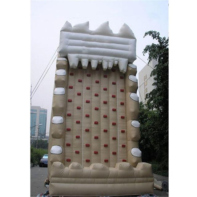 Cena fabryczna dla dzieci w pomieszczeniach używane ściana wspinaczkowa tanie i dobre opinie XZ-CW-050 Dziecko Factory price Indoor kids used rock climbing wall 0 5mmPVC L6*W6*H6m 110-220v Large Outdoor Inflatable Recreation