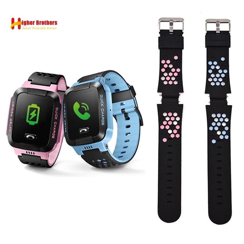 Remplacer Montre Smart Watch Bracelet pour Q750 Y19 Y21 Q80 Q90 Q528 T7 S4 Enfants GPS Tracker Bracelet Silicone Poignet Ceinture avec Connexion