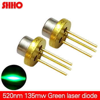520nm 135mw green light laser diode semiconductor CS Sighting light source TO-18 diameter 5.6mm performance stability lasr
