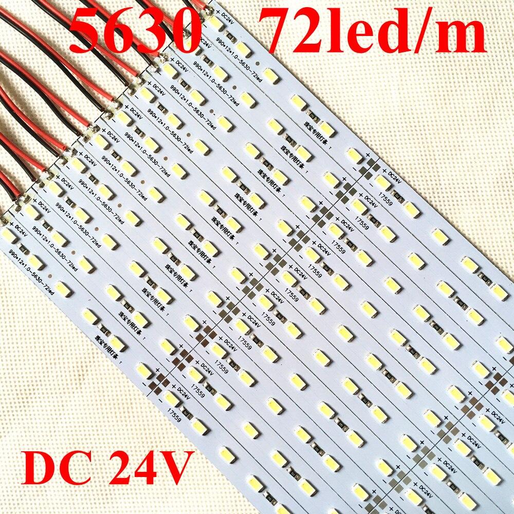 Super Bright 50cm 10pcs 36leds Hard Strip Light Rigid Bar White SMD8520 12V DC