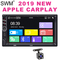 2 Din Radio Carplay for Apple Autoradio Radio Coche 7 2din Touch Screen Bluetooth Carplay Radio Pantalla Reversing Camera