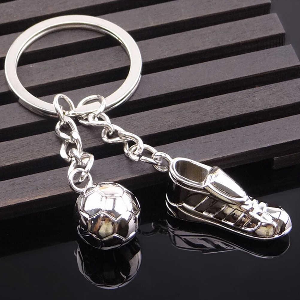 Уникальная футбольная обувь футбольный шар из нержавеющей стали металлический брелок кольцо подарок