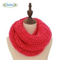 2016 New Wool Collar Neck Warmer Woman Crochet Ring Spain Loop Scarf Fashion Style Unisex Winter