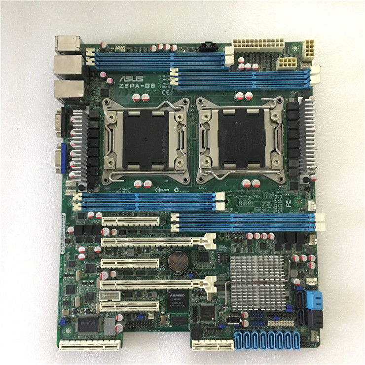original motherboard for ASUS Z9PA-D8 DDR3 LGA 2011 USB2.0 USB3.0 64GB <font><b>C602</b></font> Chip 8 memory slots Desktop Server motherboard image