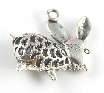 54 шт тибетские серебряные украшенные Подвески Кролик A15611