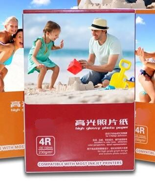 100 Sheets Glossy 4R 102 x 152mm Photo Paper For Inkjet Printer With Retail Package 230gsm