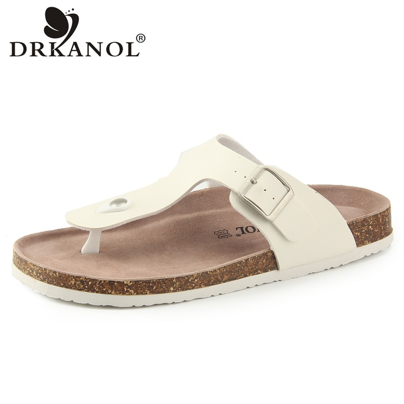 DRKANOL 2018 New Design Women Flip Flops Summer Flat Slippers Comfortable Slides Outside Beach Sandals Women Shoes Big Size 44 covoyyar 2018 fringe women sandals vintage tassel lady flip flops summer back zip flat women shoes plus size 40 wss765