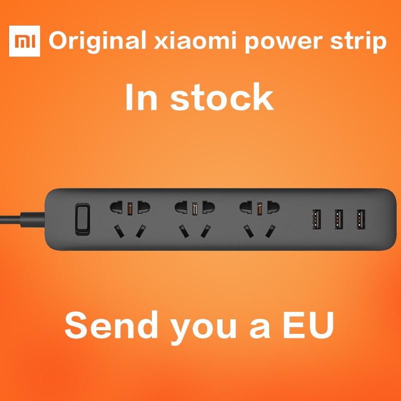 Date 100% D'origine Xiaomi Mi Smart Power strip Prise de courant 3 USB Extension Prise Plug avec Socket UA Prise Standard