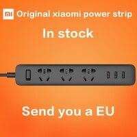 Newest 100 Original Xiaomi Mi Smart Power Strip Outlet Socket 3 USB Extension Socket Plug With