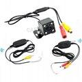 Fácil instalação sem fio câmera de visão traseira, 2.4 Ghz sem fio câmera reversa estacionamento auxiliar, Visão noturna Wirelss Camera Car 4 LED