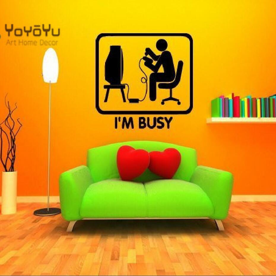 Gaming Wall Art Decal Mural Sticker Boys Gift Present Idea Bedroom ...